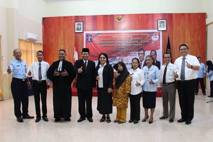 Pengambilan Sumpah Dan Pelantikan Anggota Majelis Pengawas Daerah Notaris